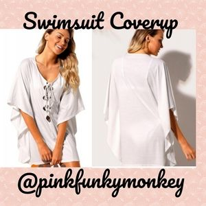 Other - New White Lace Up Cover Up